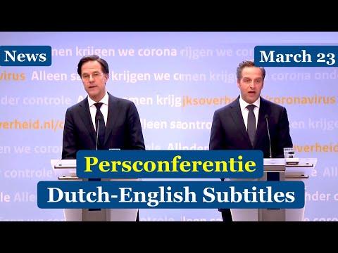 Dutch News | Rutte and Jonge on recent Corona developments, March 23, 2021