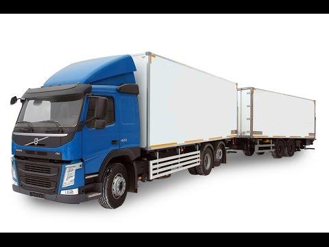 видео: Автопоезд volvo с  изотермическими фургонами