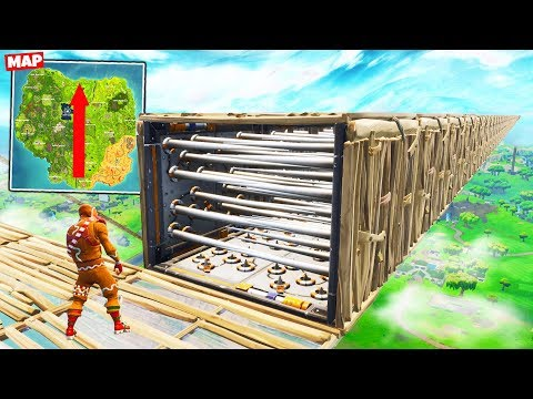MAP-WIDE TRAP TUNNEL (4000M) in Fortnite Battle Royale