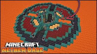Underground Nether Base with Strider Pens!!! [Minecraft Tutorial]