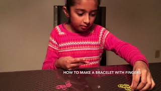 Hand Made Bracelet/ How To Make A Bracelet With Fingers/ Rubber Band Bracelet