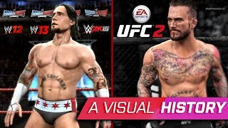 A Visual History Of CM PUNK In WWE UFC Games 2008 2017