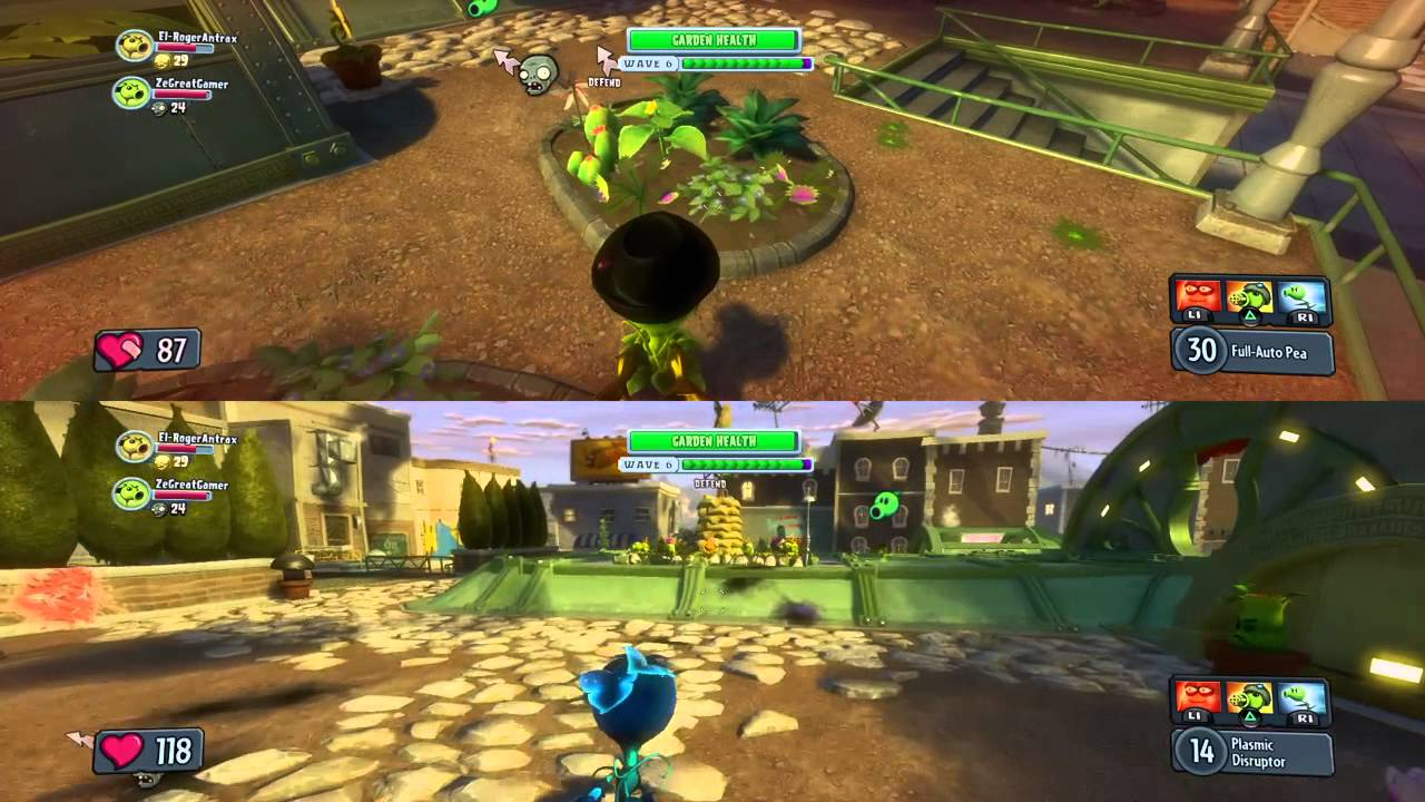 Two Player Plants Vs Zombies Games Gamesworld