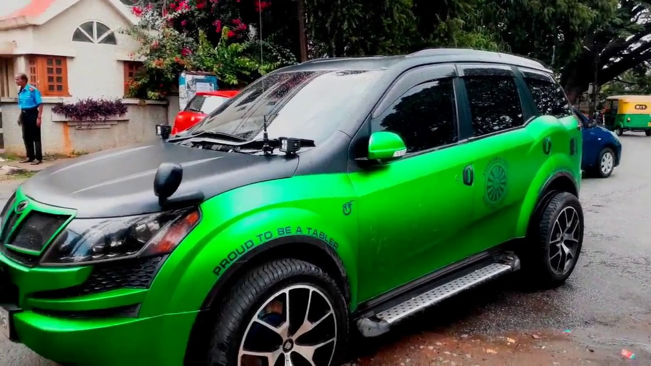 Top 5 modified mahindra xuv 500 youtube for Xuv 500 exterior modified