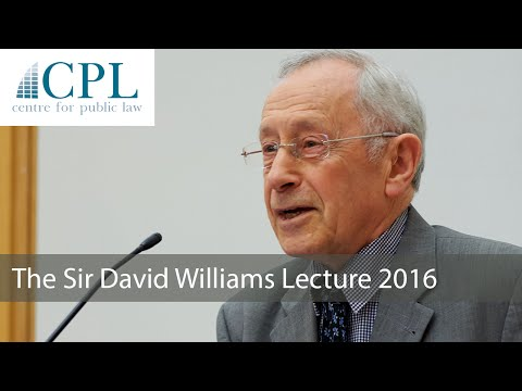 'The lion beneath the throne: law as history': The 2016 Sir David Williams Lecture