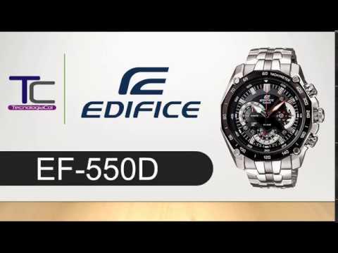 15e4248ef1b1 Reloj CASIO EDIFICE Taquimetro EF-550D - Acero Inoxidable. Tecnologia  Colombia