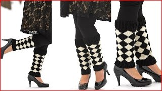 Crochet Tutorial: Crochet Harlequin Legwarmers