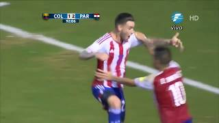Colombia 1-2 Paraguay Gol de Sanabria (Relato Ruben Dario da Rosa) Eliminatorias Rusia 2018