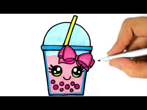 How To Draw A Milk Shake Easy Step By Step Como Desenhar