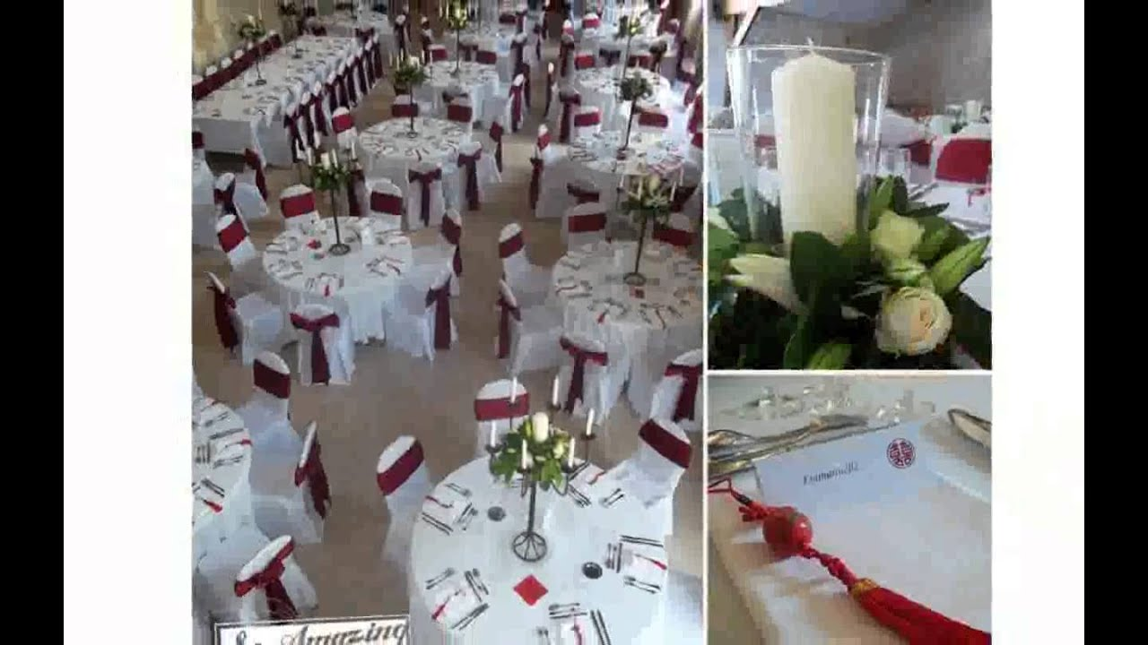 Decoration de table pour mariage youtube for Decoration de table