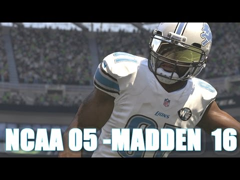 CALVIN JOHNSON THROUGH THE YEARS - NCAA FOOTBALL 05 - MADDEN 16
