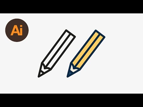 Learn How to Draw a Vector Pencil Icon in Adobe Illustrator | Dansky