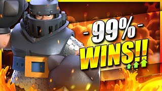 +1400 TROPHIES IN ONE HOUR!! BEST MEGA KNIGHT DECK IN CLASH ROYALE!! 🏆