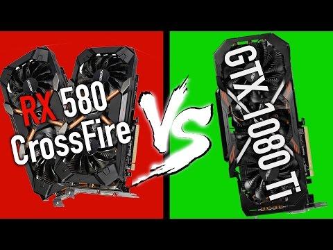 Gigabyte AORUS RX 580 CROSSFIRE VS AORUS GTX 1080 Ti