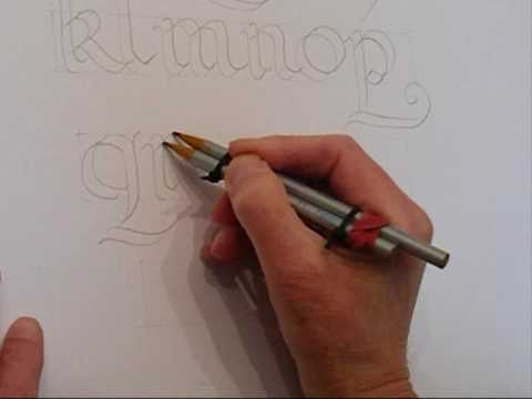Calligradoodles 0002 A Roundhand Alphabet Youtube