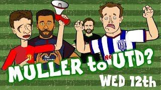 MULLER to UTD? ALVES to PSG! Jones to WBA? Hart to West Ham? (Today's Transfer News)