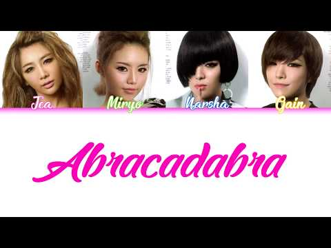Abracadabra  Brown Eyed Girls COLORCODED LYRICS HANROMENG