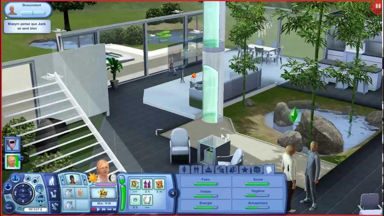 les sims 3 le de r ve ep 3 en route vers le futur youtube. Black Bedroom Furniture Sets. Home Design Ideas