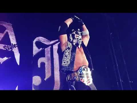 AJ Styles wearing a mask for Entrance at WWE Live Event Osaka