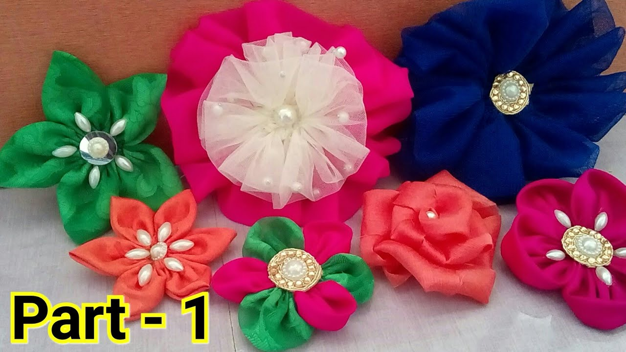 Cloth Flower Making Flower Making With Cloth How To Make