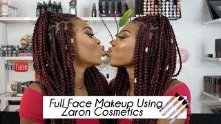 Full Face Makeup Using  Zaron Cosmetics