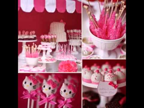 hello kitty birthday party decoration youtube. Black Bedroom Furniture Sets. Home Design Ideas