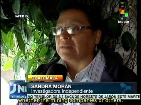 Human rights violations are related to mining, say Guatemalans