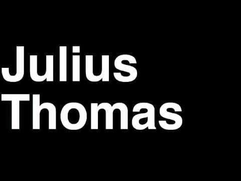 How to Pronounce Julius Thomas Denver Broncos NFL Football Touchdown TD Tackle Hit Yard Run