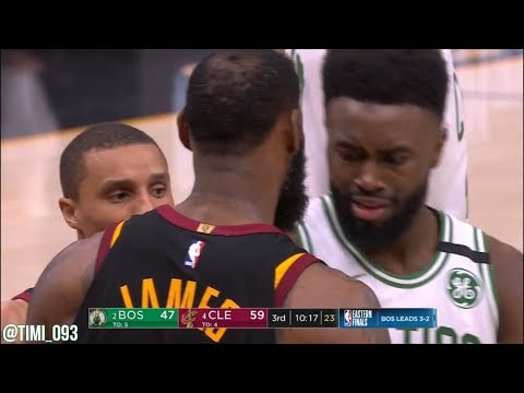 Jaylen Brown and LeBron James get into it