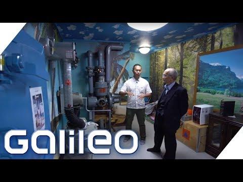 Sicherheitsbewusste Japaner: Der Bunker mit Urlaubsflair | Galileo | ProSieben