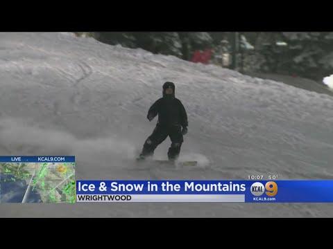 San Bernardino, Riverside Mountains Brace For More Snow, Ice