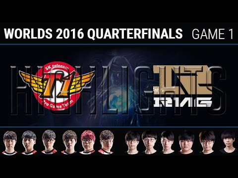 SKT vs RNG Game 1 Highlights, S6 Worlds 2016 Quarter-final, SK Telecom T1 vs Royal Never Give Up G1