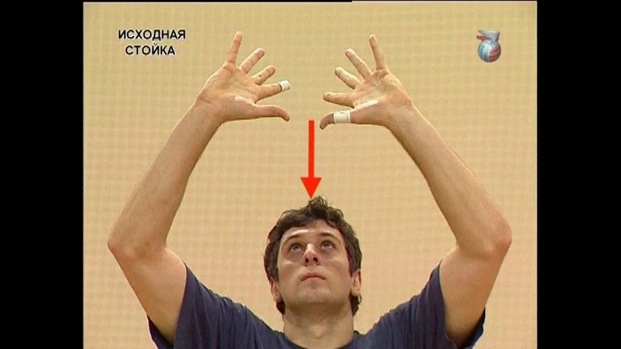 Волейбол. Передача двумя руками сверху.