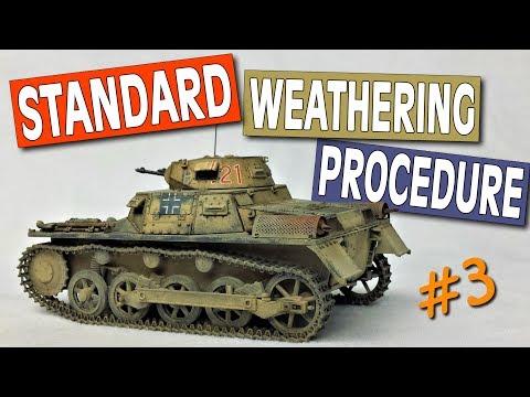 How to Weather DAK Model Tanks   Standard Weathering Procedure Ep.3