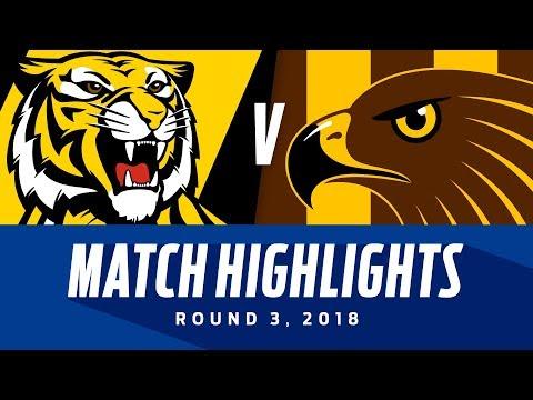 Match Highlights: Richmond v Hawthorn | Round 3, 2018 | AFL