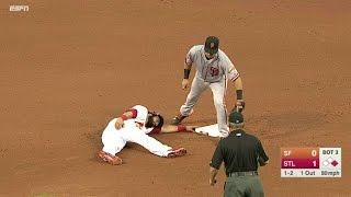 SF@STL: Belt nabs Carpenter with a heads-up throw