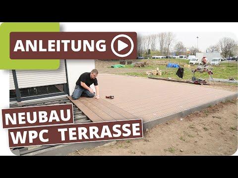 Turbo WPC Terrassendielen verlegen im Neubau Planeo WPC-Dielen - YouTube CY22
