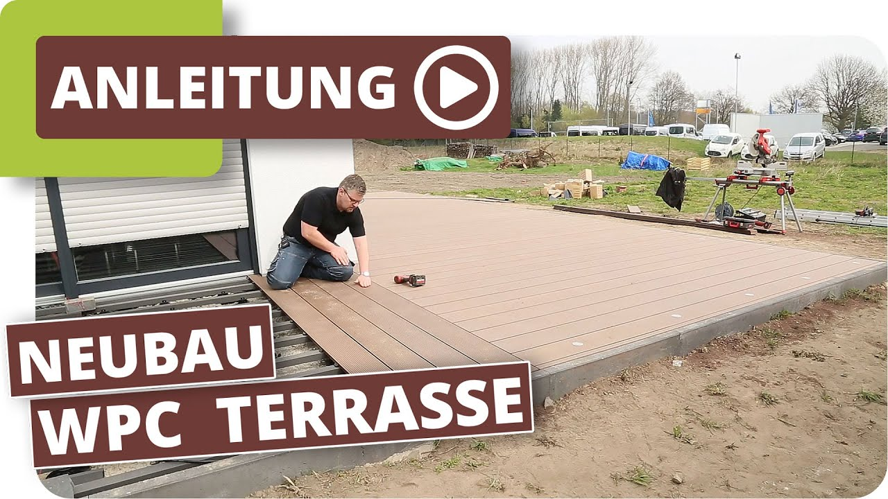Wpc Terrassendielen Verlegen Im Neubau Planeo Wpc-Dielen - Youtube