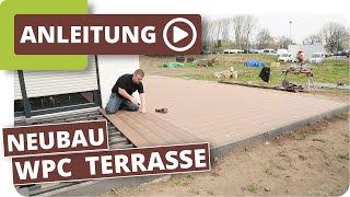 Neubau Terrasse mit Planeo WPC Terrassendielen verlegen