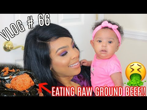 VLOG #66 | EATING RAW GROUND BEEF!! | FAMILY DANCE BATTLE!