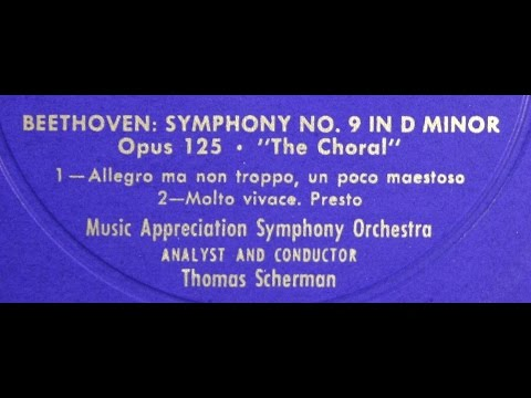 (1) Beethoven / Thomas Scherman, 1957: Analysis of the 9th (Choral) Symphony - Part 1
