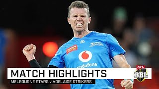 Wells, Siddle help Strikers conquer Steyn's Stars | KFC BBL|09