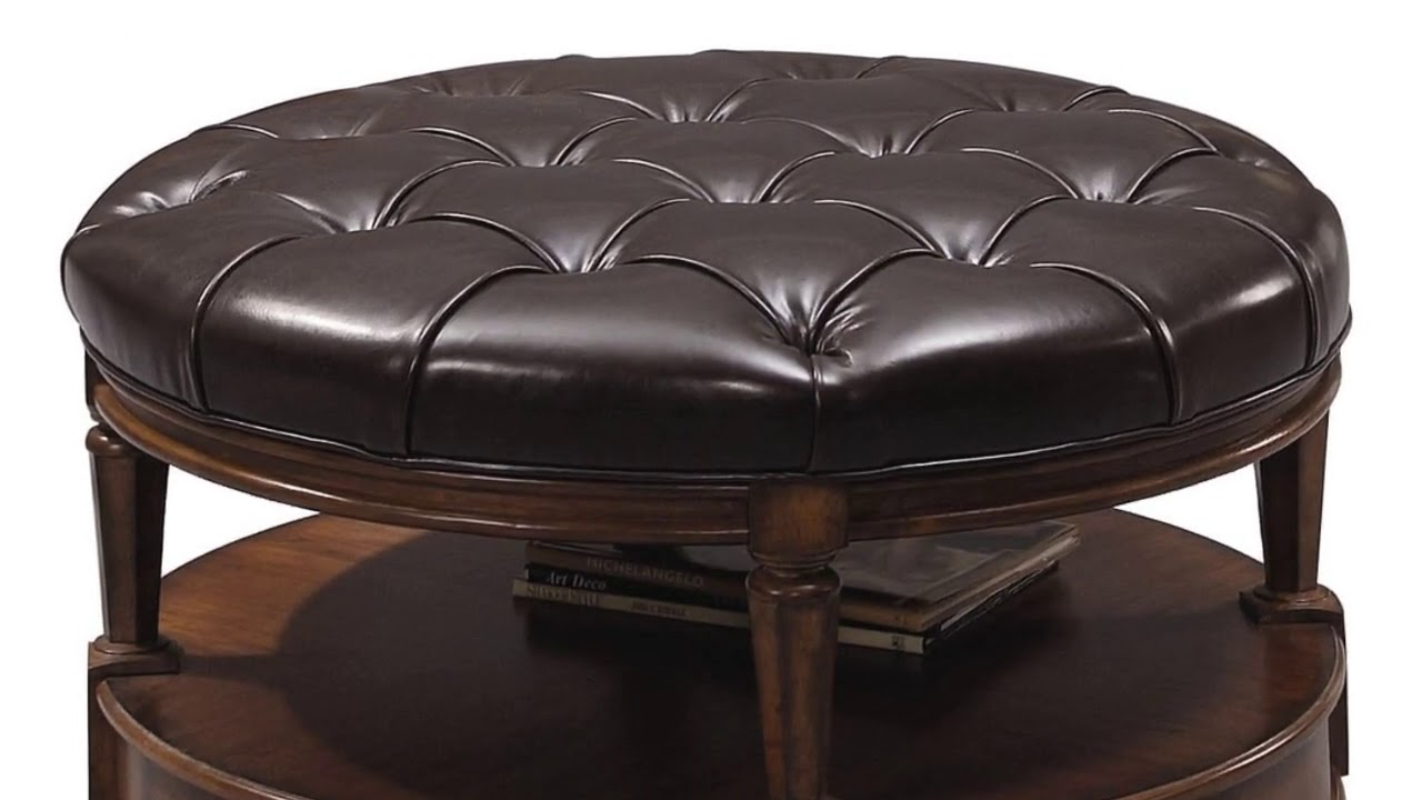 Square Leather Ottoman Coffee Table Designs Youtube