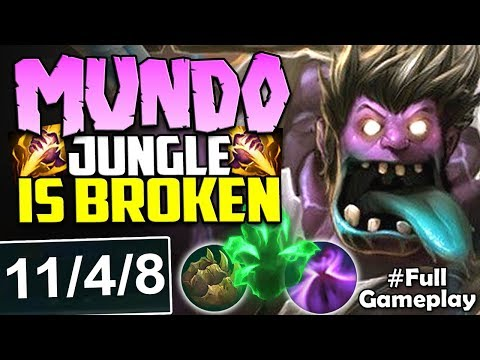 MUNDO JUNGLE IS BROKEN | INSANE DAMAGE WHILE BEING FULL TANK | MUNDO JUNGLE Season 8 PBE Gameplay