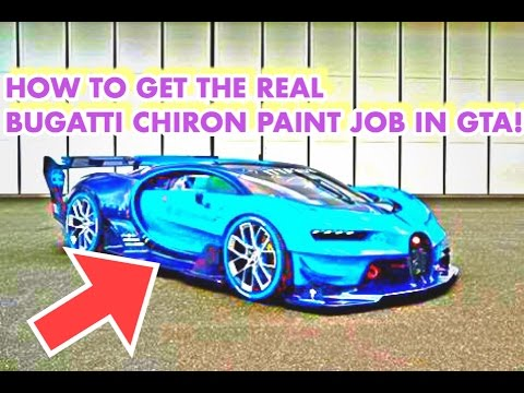 HOW TO GET THE REAL BUGATTI CHIRON PAINT JOB ON THE NERO CUSTOM IN GTA 5  ONLINE!