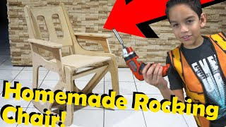 How to Make A Rocking Chair for kids DIY with AdrianAdventures