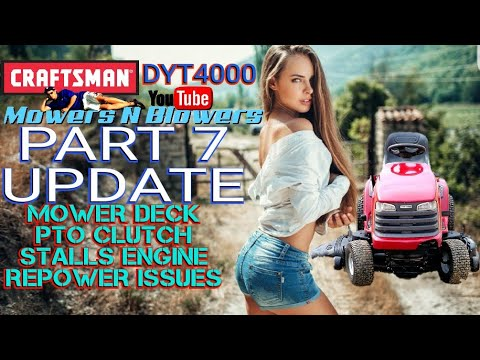 FREE CRAFTSMAN DYT4000 YARD LAWN TRACTOR MOWER DECK PTO CLUTCH STATOR AMPS  TROUBLESHOOTING UPDATE