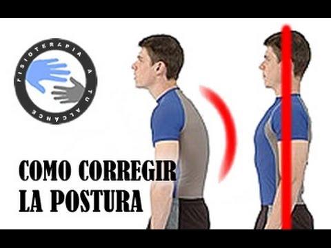 Como corregir la postura de la espalda encorvada mediante ejercicios