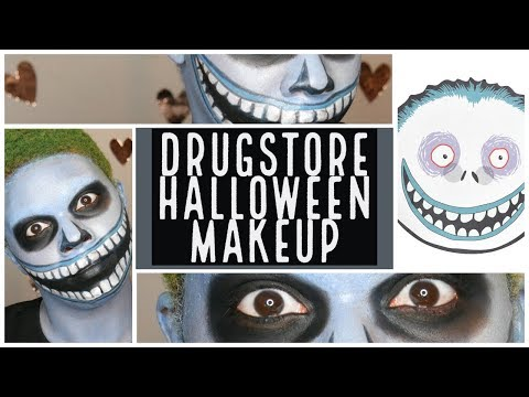 EASY DRUGSTORE NIGHTMARE BEFORE CHRISTMAS MAKEUP thumbnail