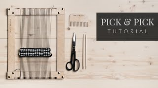 Pick \u0026 Pick Tutorial [Easy Weaving Stitch]